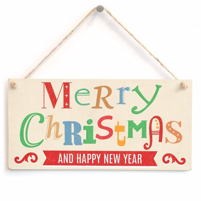 meijiafei merry christmas and happy new year xmas sign 10 x5 in