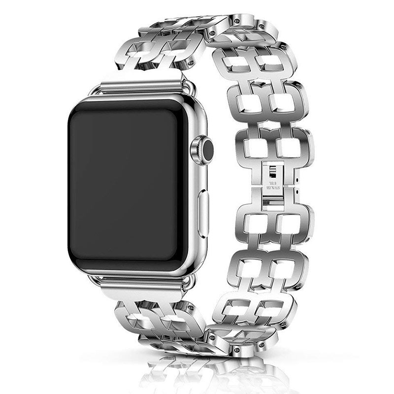 Apple Watch Band 38mm 42mm For Men Women A Classic Metal Link Band Combined Fancy New Look Band