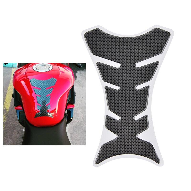 Carbon Fiber Gas Oil Tank Pad Protector Sticker Decal For Honda Kawasaki Suzuki Yamaha KTM BMW Ducati Universal Motorbike