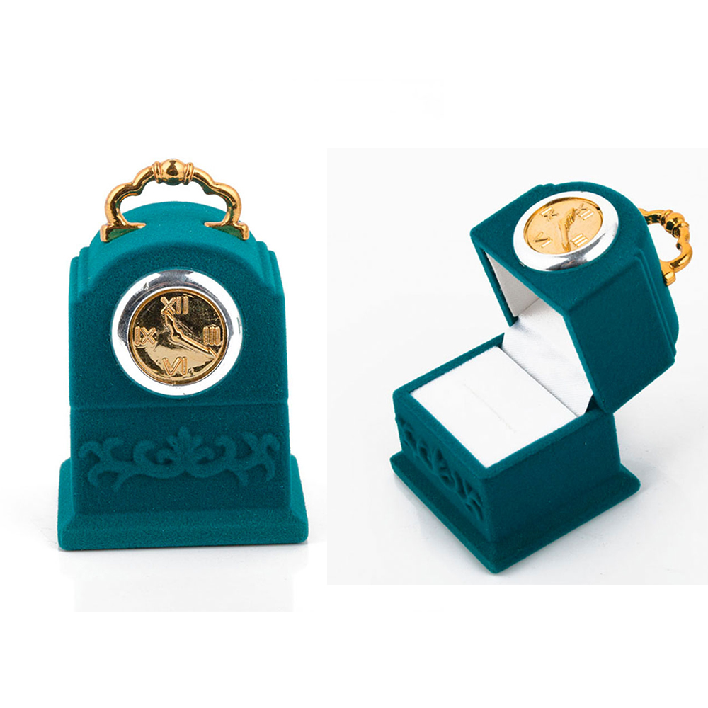 New Velvet Hanging Bell Shape Rings Box Jewelry Box Packaging Display Fashion Creative Jewelry Storage Case Holder