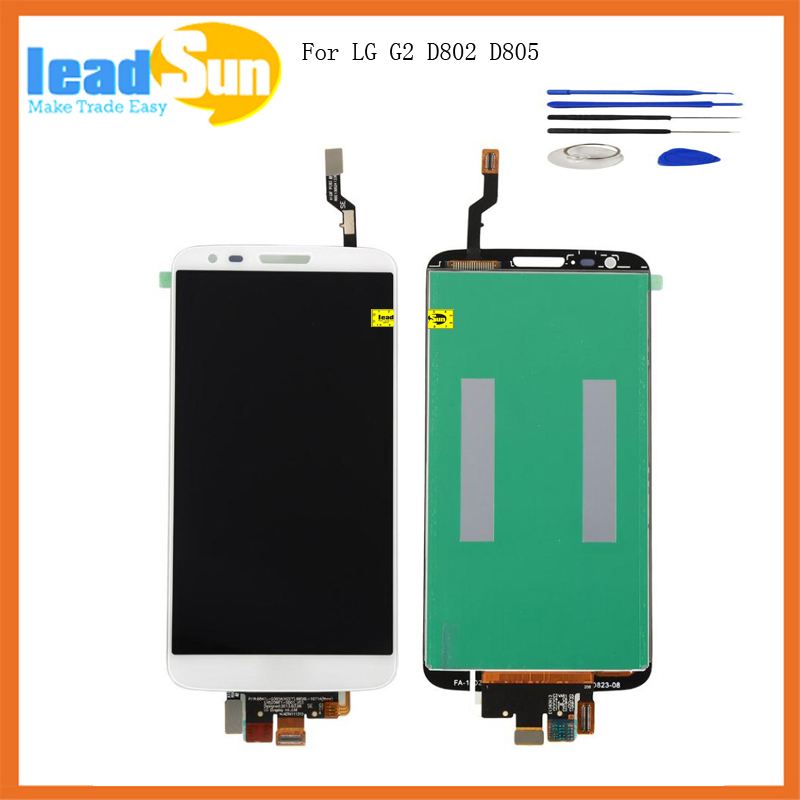 5.2 High quality repacement for LG Optimus G2 D802 D805 Lcd display with touch screen digitizer assembly free tool and shipping
