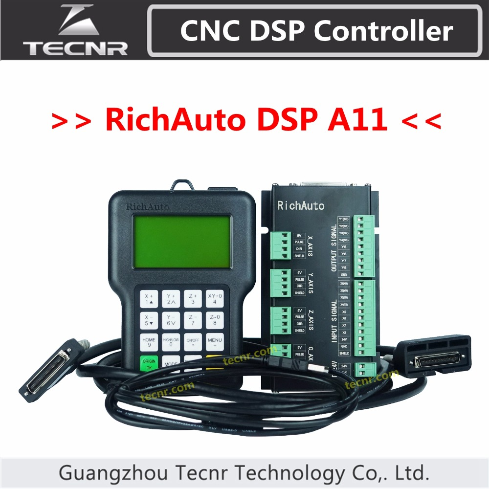 RichAuto DSP A11 CNC controller A11S A11E 3 axis Controller remote For CNC Router TECNR CNC DSP Controller richauto a11 dsp controller for cnc router control dsp a11s a11e board data line