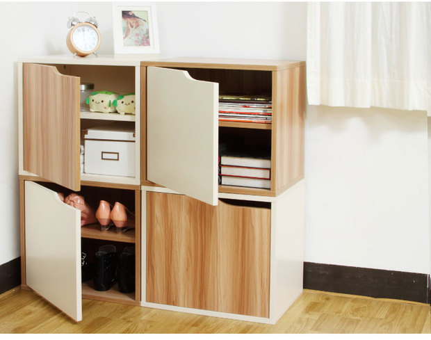2014 New Wooden Shoe Rack Living Room Furniture Storage Cabinet With Doors  One Piece One Set