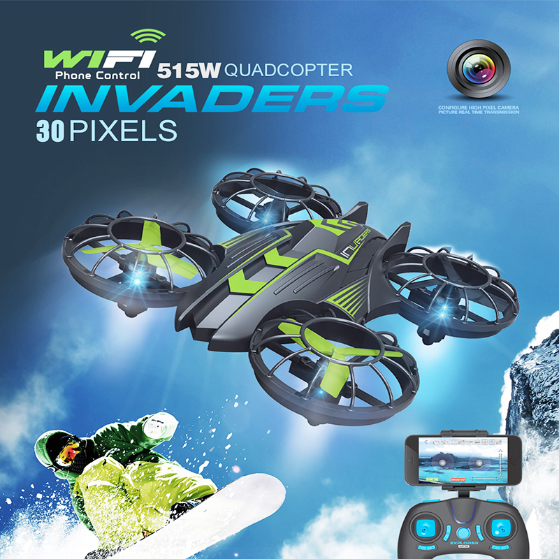Newest font b Drone b font with WiFi Camera HD Real time Transmission FPV Quadcopter 2