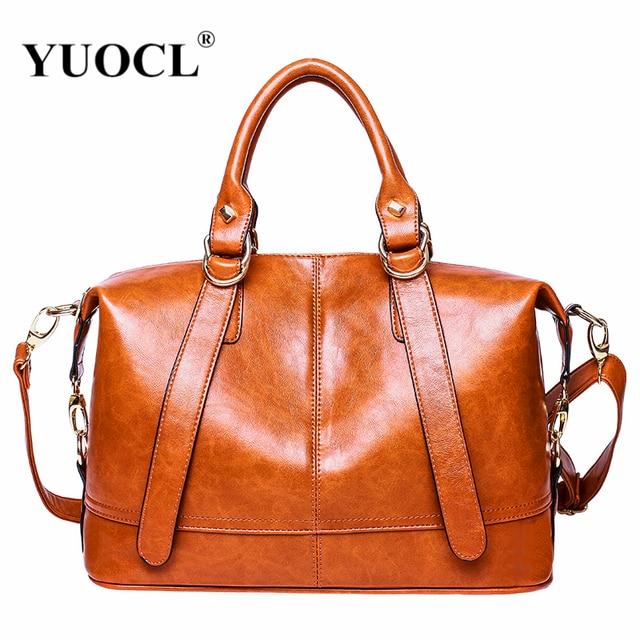 luxury leather handbag women messenger bag designer for 2018 famous brands  tote shoulder bolsa feminina sac a main mujer vintage-in Shoulder Bags from  ... 6cb7f66ac3