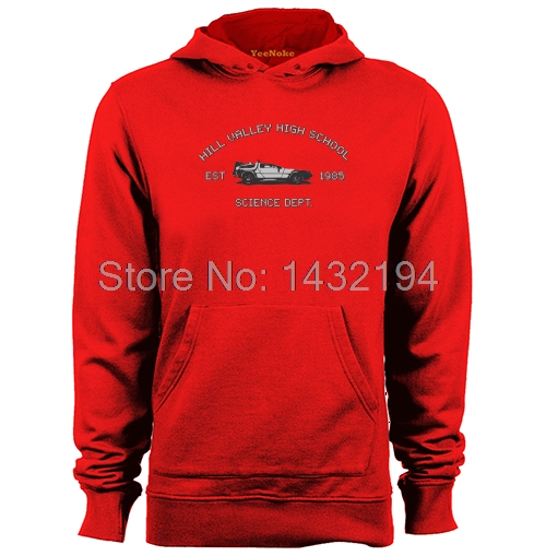 Hill Valley High School Science Dept Delorean Back To The Future Mens & Womens Hoodies Sweatshirts