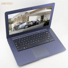 Amoudo-6C 4GB RAM+64GB SSD+1TB HDD 14inch 1920*1080 FHD Windows 7/10 System Quad Core Ultrathin Laptop Notebook Computer on sale