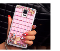 New Stylish Bling Diamante Diamond Crystal Silver Chain Clear Case Cover Skin For Samsung Galaxy Note