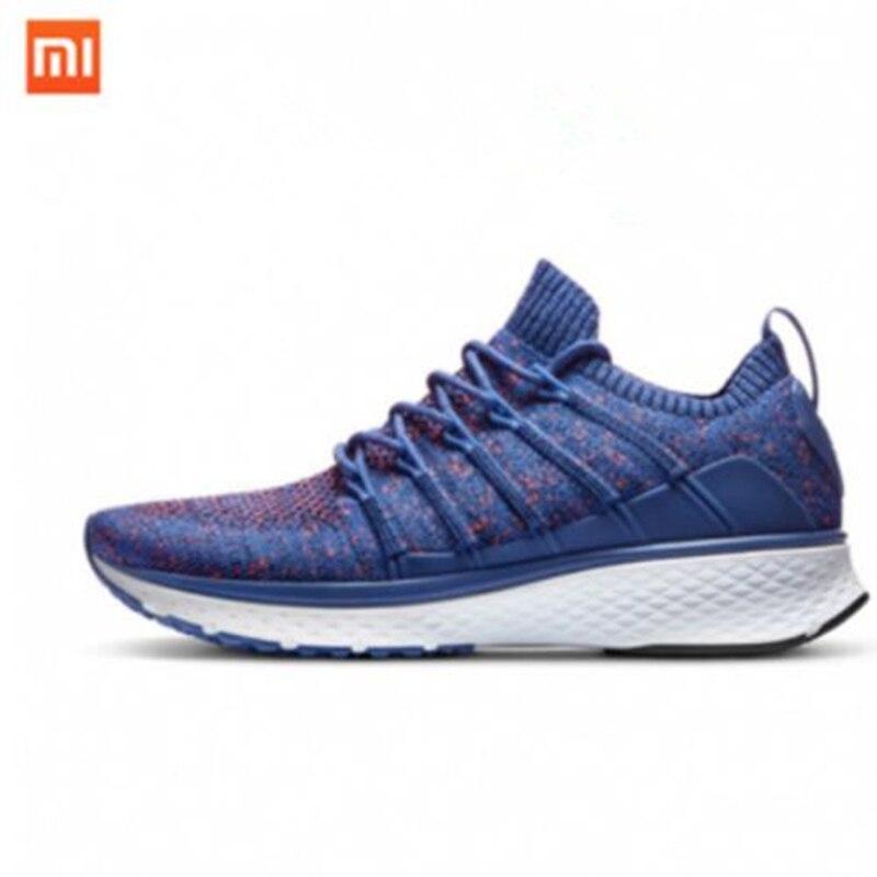 New Xiaomi Mijia Sneakers 2 Running Shoes Fishbone Lock Design Uni Moulding Techinique Elastic Knitting Vamp