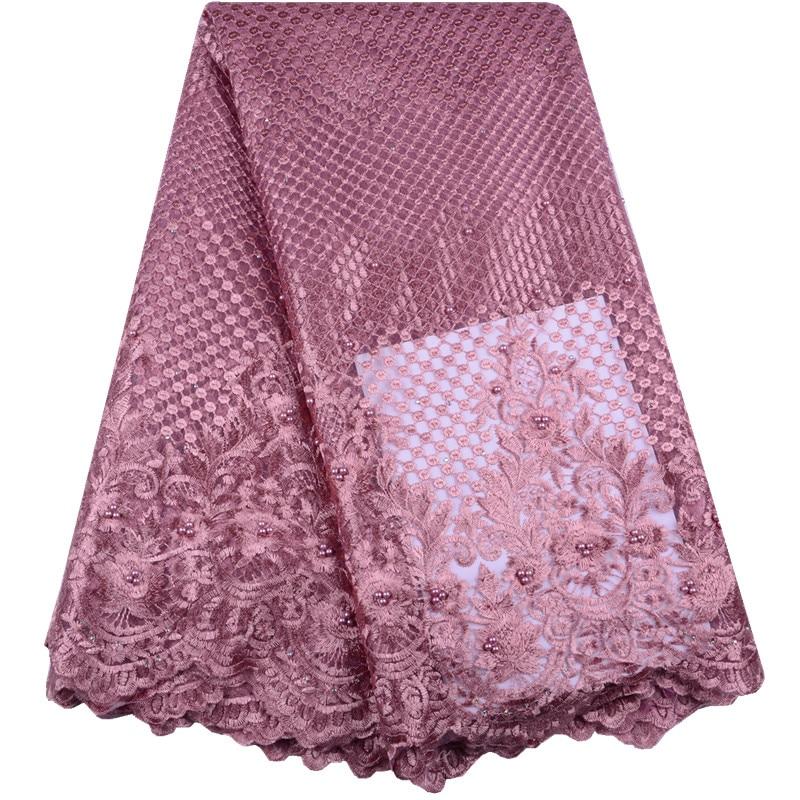 Tejido de encaje francés Color cebolla 2019 tela de encaje africano bordado tela de encaje nigeriano encaje de alta calidad para boda Y1518-in encaje from Hogar y Mascotas    1