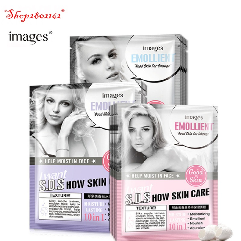 HOTImages Silk Moisturizing Mask Skin Care Acne Treatment Deep Moisturizing Whitening Wrinkle Anti Aging Shrink pores skin care
