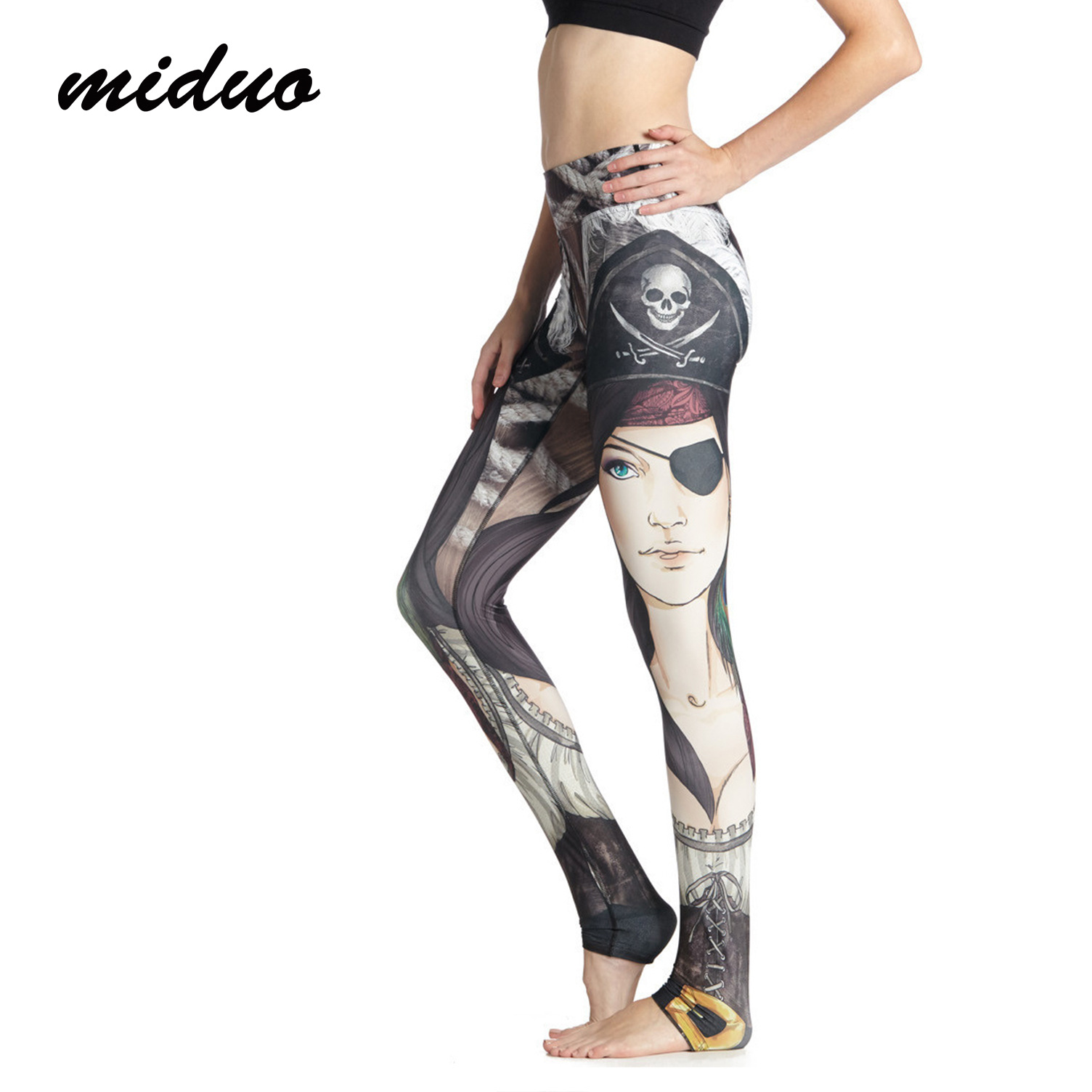 50802dbf1a leggins sport women fitness Pirate Printing High-end Yoga Leggings Stretch  Pants Skinny Gym Pants