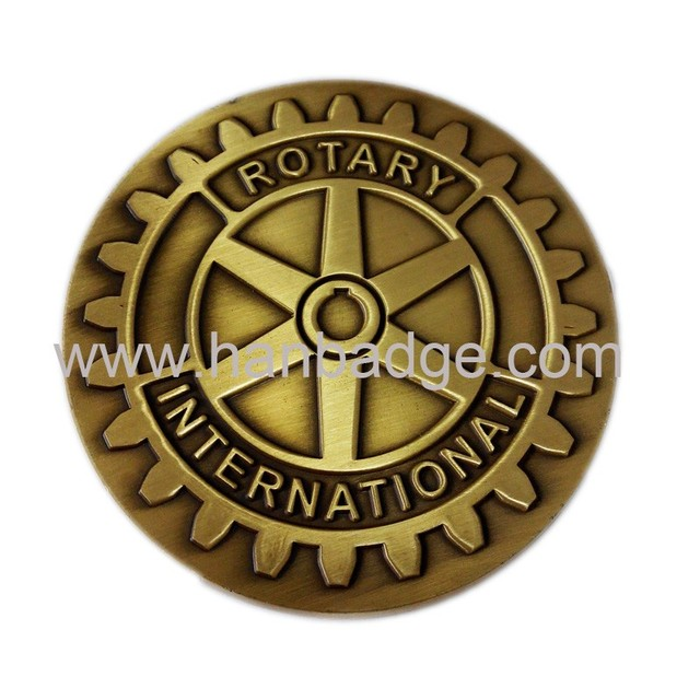 US $295 0  Customized Challenge Coins Custom Souvenir Coins Rotary  International Metal Coins-in Non-currency Coins from Home & Garden on