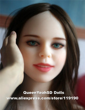 Top quality TPE sex doll head for love doll, realistic sexy doll heads with oral sex, sex toy for men