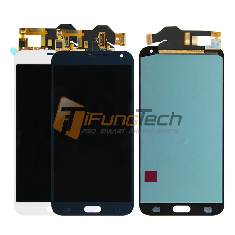 5pcs/lot Free DHL Original lcd screen for samsung Galaxy e7 E7000 with touch display digitizer replacement assembly white blue  цены