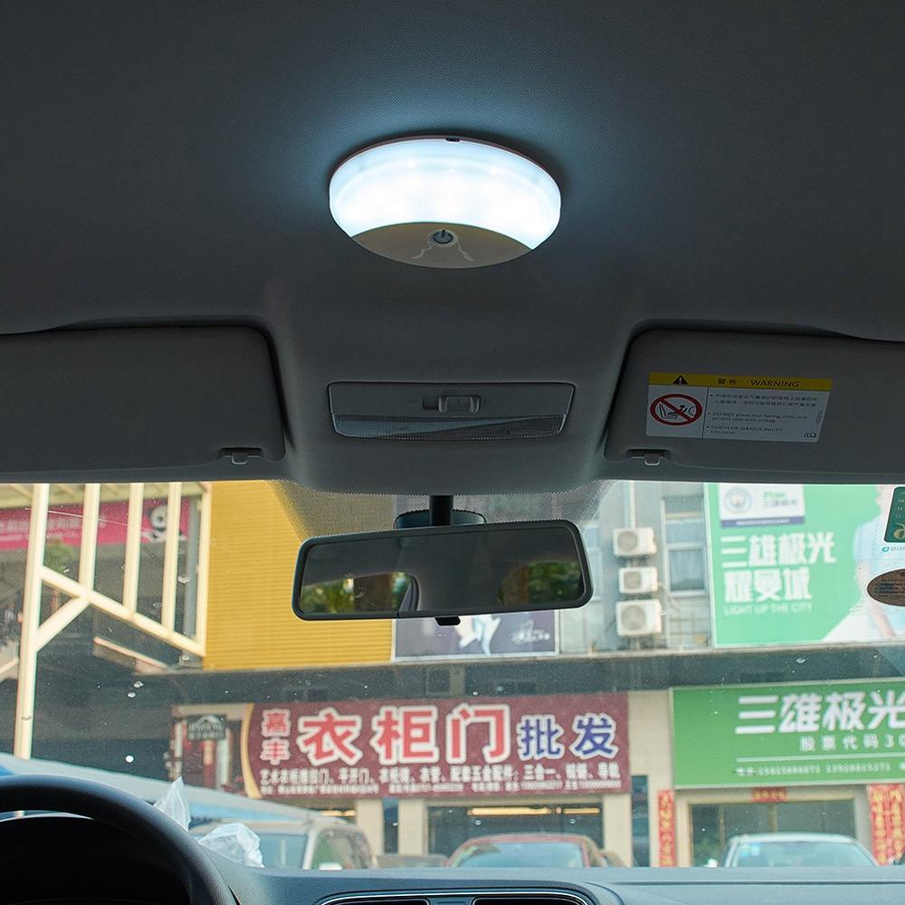 Лампы для чтения автомобиля сильно яркий светодиодный сенсорный Тип ночник сенсорный Сенсор шайбовые светильники Магнитный заднее сидень...