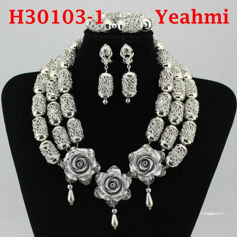 2018 Hot luxe étincelant complet strass Zircon collier boucles d'oreilles Bracelet bague pour femmes Dubai bijoux africains ensemble H30103-2