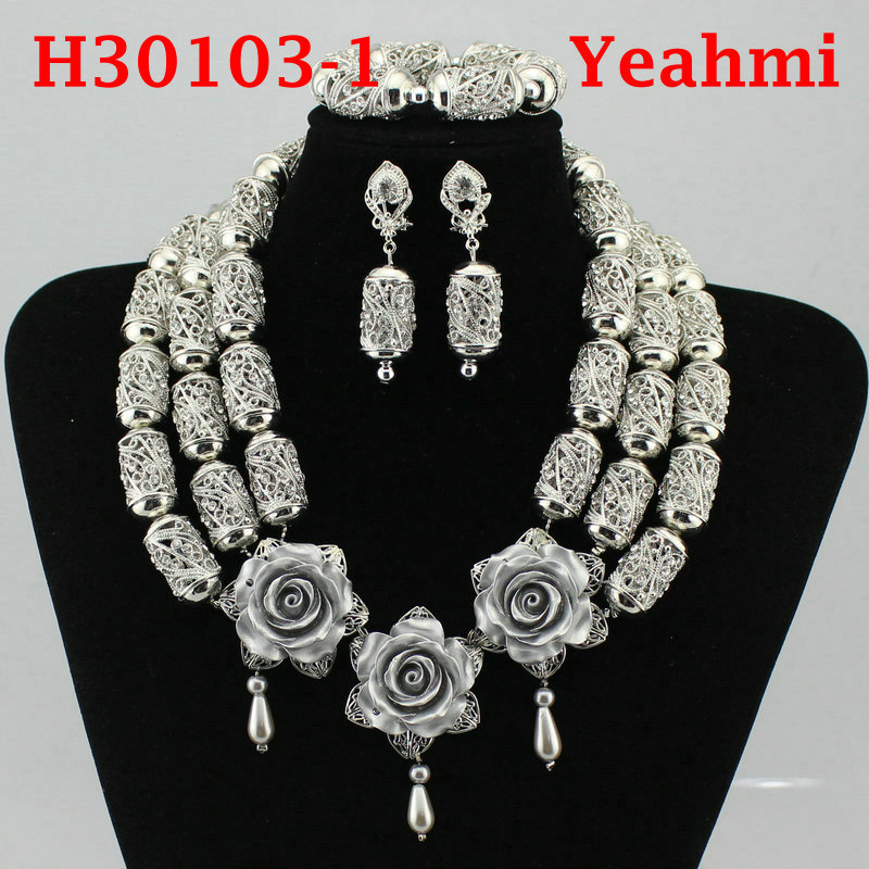 2018 Hot Luxury Sparkling Full Rhinestone Zircon Necklace Earrings Bracelet Ring For Women Dubai African Jewelry Set H30103-2 a suit of delicate rhinestone necklace bracelet earrings and ring for women