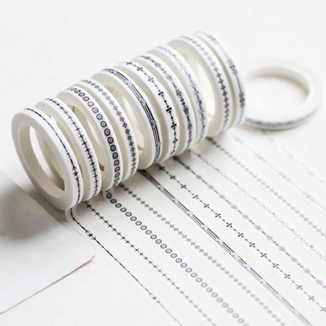 5mm X 5m Slim Retro Border Material Handbook Decorative Sticker Fine Section Tapes Diy Washi Tape Scrapbooking Masking Tape