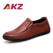 AKZ Spring Summer Man Loafers High Quality Microfiber Leather Men Casual shoes Comfortable Light Soft Male Flats
