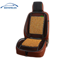 KKYSYELVA 1pcs Hand Made Car Seat Cover Summer Lumbar Support For Office Home Chair Seat Cushion