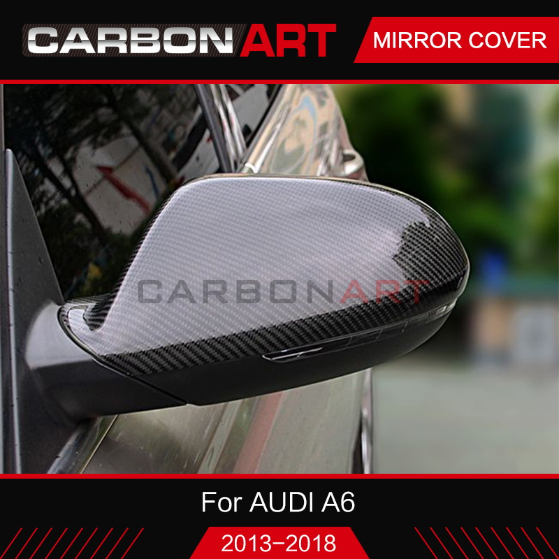 For Audi A6 c7 Real Carbon fiber side mirror cover trim 2pcs for Audi A6 C7 with & without lane assist 2012 2013 2014 2015