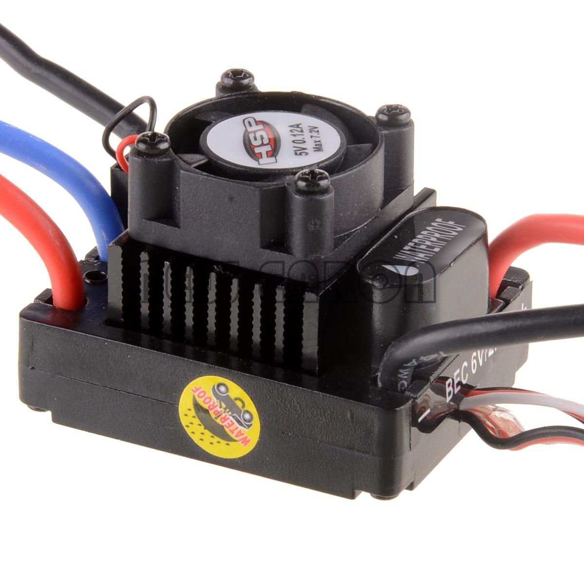 NOUVEAU ENRON RC VOITURE 1:10 Brushless ESC 45A 2-3 s Lipo 37017 (03307) s10-45A Pour HSP 1/10 RC Camion Buggy Électrique
