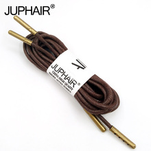 1-12 Pairs Brown Mens High Quality Unise Laces Waxed Round Shoelaces Sneaker Solid Polyester Twisted Shoes Metal Head Shoelaces недорого