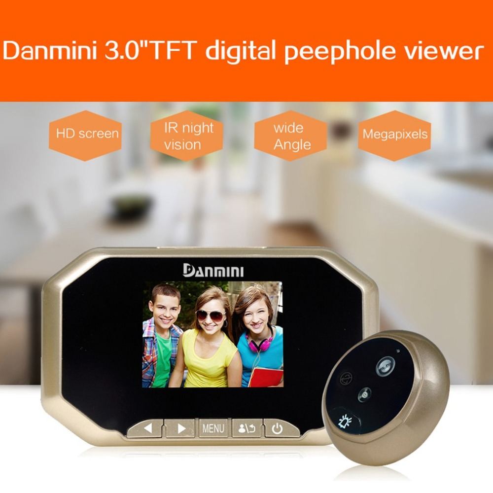 Daminin Digital Door Viewer Camera 4.3 Inch Smart Door Eye Video Record Peephole Viewers IR Night Vision Doorbell Home Security цена