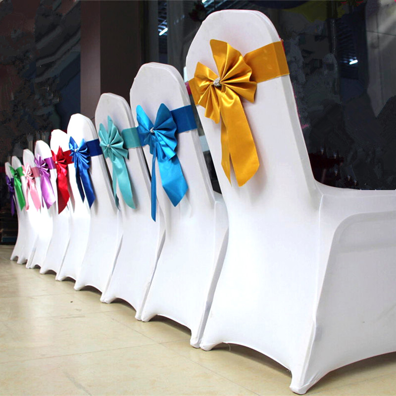 Uitgelezene Wit stoelhoezen Witte bruiloft decoratie stoel elastische stof IH-79