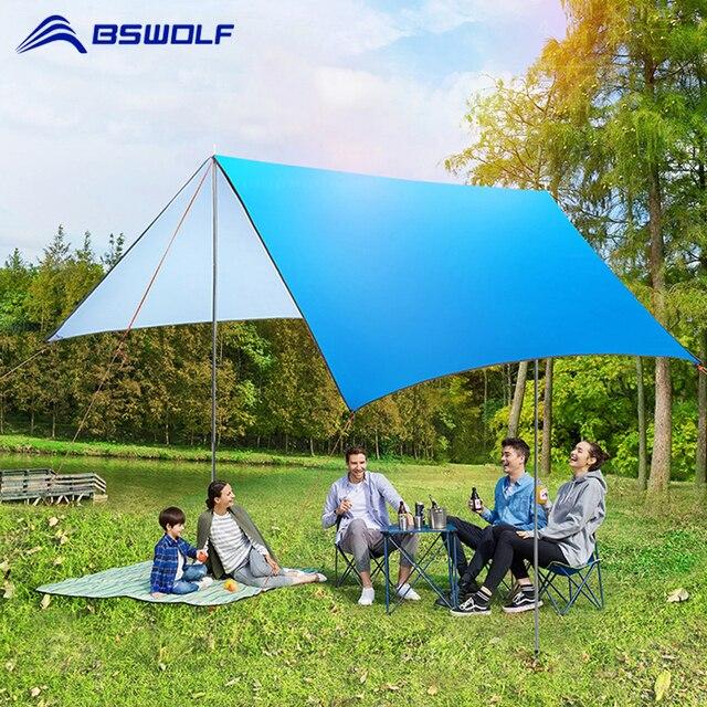 3mx3m Beach Sun Shelter Tarp Camping Tent Oxford Canopy Tarp Waterproof Mat Ultralight UV Garden Awning Canopy Sunshade