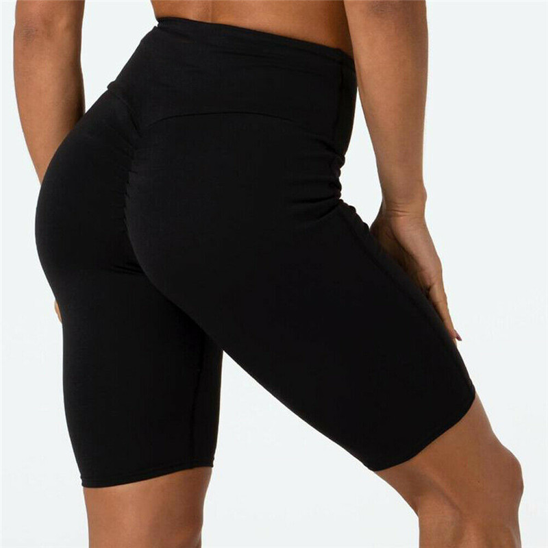 2019 Fashion Women Casual Bodycon High Waist Solid Fitness Bike Cycle Shorts Soft Stretch Summer Casual Shorts New Arrival