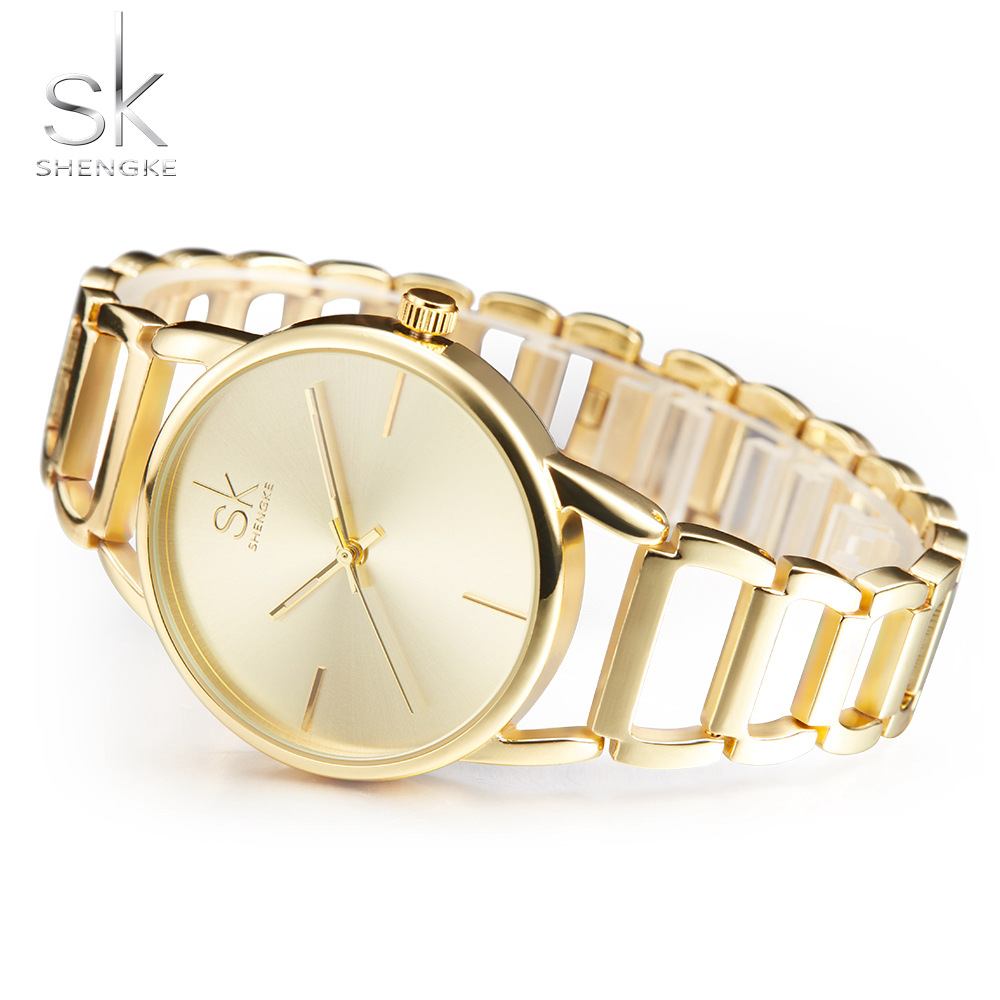SK Quartz Watch Women Watches Ladies Brand Luxury Famous Gold Silver Wrist Watch For Female Clock Montre Femme Relogio Feminino weiqin luxury gold wrist watch for women rhinestone crystal fashion ladies analog quartz watch reloj mujer clock female relogios