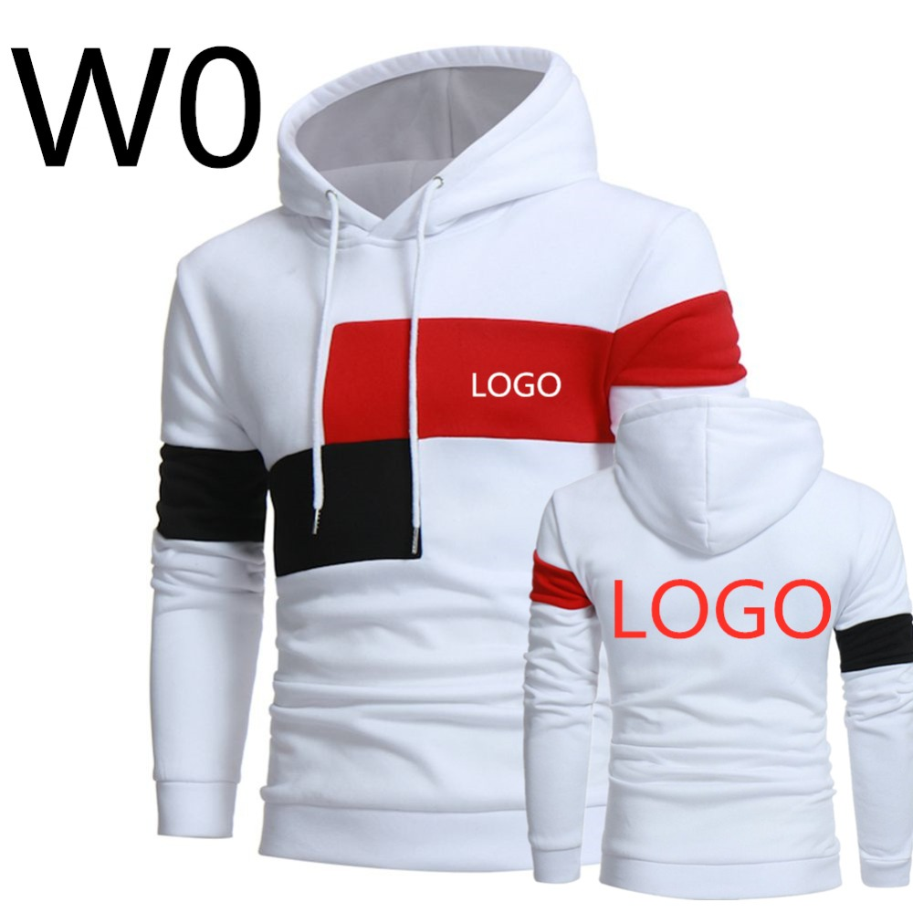 Men's Leisure Harajuku Hoodies Print Logos Hoody Spring Slim Male Patchwork Sweatshirts Man Hooded Sports Streetwear Top 2