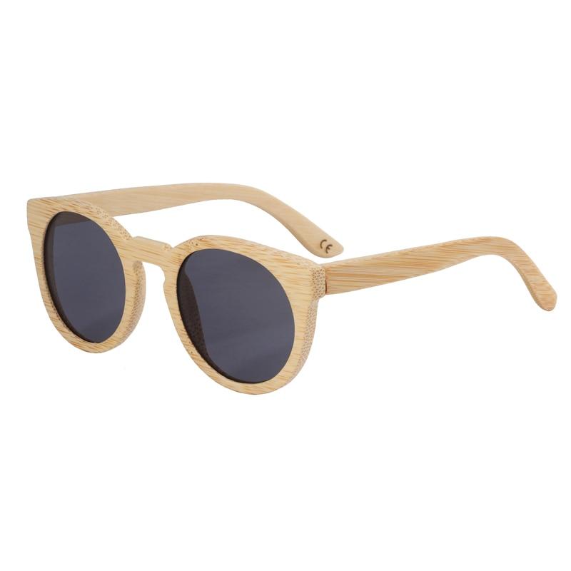 BerWer Wood Sluneční brýle dámské kulaté Bambusové brýle Vintage Wood Frame Ručně vyráběné sluneční brýle pro muže Brýle Oculos