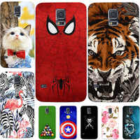 Lovely Cartoon Phone Cases For Samsung Galaxy S5 Mini G800 S5mini S5 S5Neo Case Animal Cat Pattern Cover Printed Coque