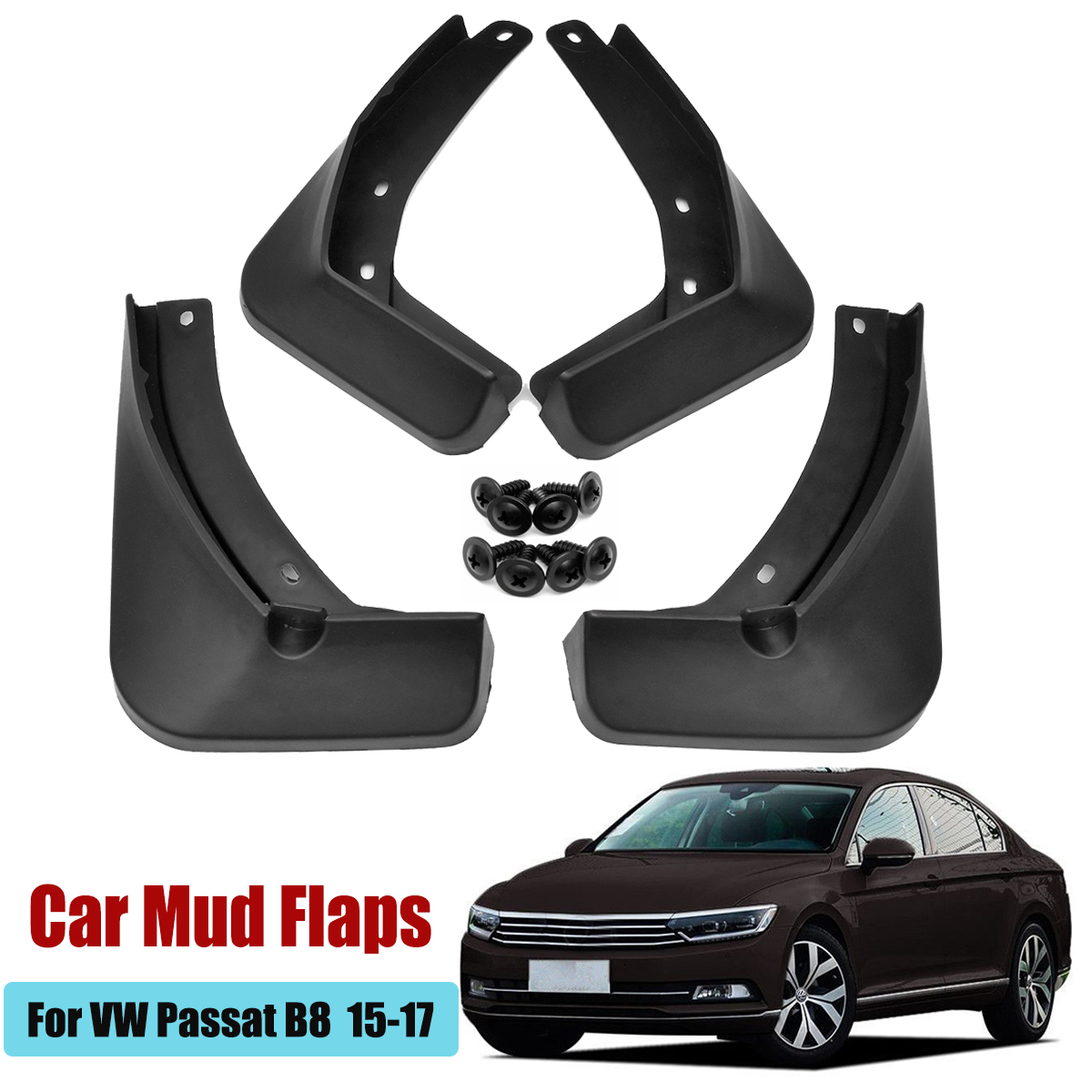 Guardabarros de coche guardabarros Splash guardias guardabarros accesorios de guardabarros para VW Passat B8 2015, 2016, 2017, 2018, 2019