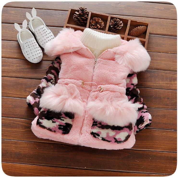 0-3 years old fashionable cute girl winter thick warm cotton + free gift