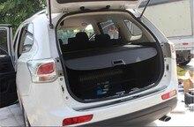 Para mitsubishi outlander 2013.2014.2015 posterior del tronco seguridad cargo cover escudo maletero del coche sombra cubierta de seguridad de alta quali