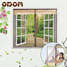 Stripe Window Screen Summer Especial Velco Anti-Mosquito Curtain Insect Screen Mosquito Bug Mesh Window Screens Home Supplie