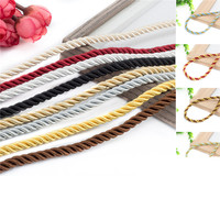 Diameter 5mm decorative rope curtain accessories Sofa lace rop tied rope curtain decoration multicolored twist rope 85m/pcs