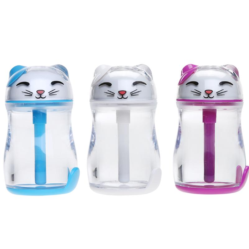 150ML Lucky Cat Ultrasonic Air Humidifier USB Essential oil diffuser Car Home Office Air Freshener With LED mist maker fogger car outlet perfume air freshener with thermometer lime