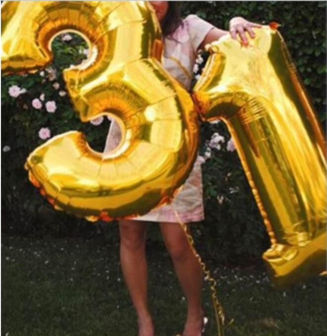 100ピース/ロット40インチ0 9ゴールド/シルバー箔番号バルーン誕生日ウェディングパーティーの装飾ヘリウム膨張可能なバルーンおもちゃ  グループ上の ホーム&ガーデン からの 風船 & アクセサリー の中 1