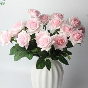 Image 4 - (شراء 2 مجموعة الحصول على إضافي 10% OFF) 11 أجزاء/وحدة الرئيسية/ديكور زفاف صناعي زهرة العروس باقة اللاتكس وردة بملمس طبيعي الزهور