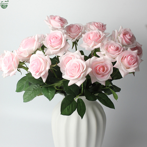 Image 4 - (Kup 2LOT zdobądź dodatkowe 10% zniżki) 11 części/partia strona główna/dekoracje ślubne sztuczny kwiat bukiet panny młodej prawdziwa w dotyku lateksowa róża kwiaty