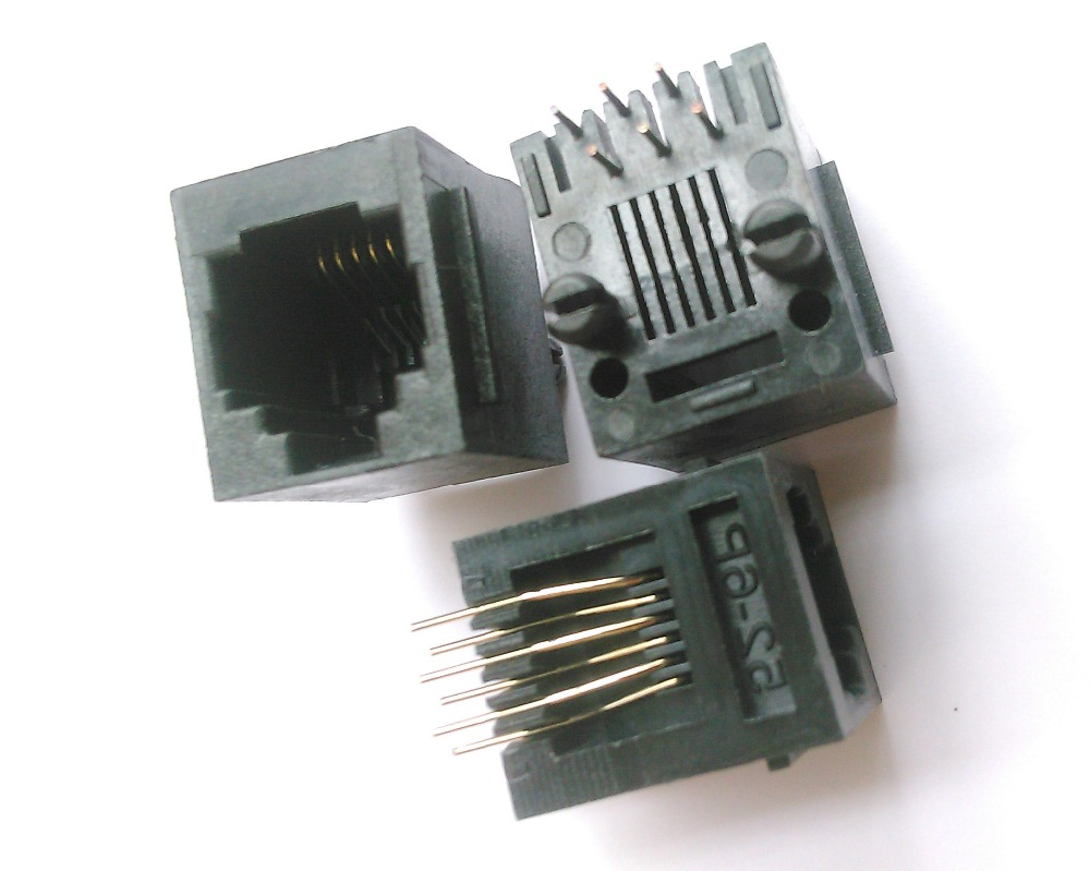 Buy 10rj11 modular network pcb jack connector 5222 4p4c for Express modular pricing
