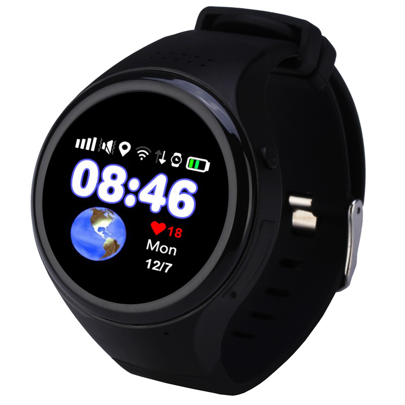 imágenes para Loco t88 gps wifi bidireccional sos mtk2503 recordatorio podómetro de seguimiento de control remoto de pantalla táctil smart watch para teléfonos móviles
