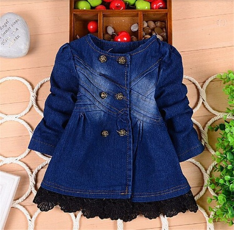 927a4113c BibiCola baby girls spring autumn christmas denim jacket baby fashion girls  cowboy lace jackets coats children outerwear coat-in Jackets & Coats from  Mother ...