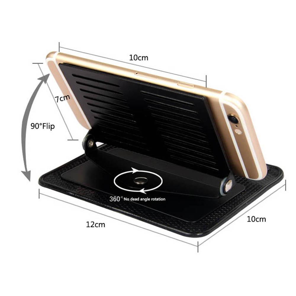 HTB1RuJCXoLrK1Rjy0Fjq6zYXFXaj - Car Ornament Silicone 360 Rotating Phone Holder Non-Slip Mat Automobile Dashboard Adjustable Angle Anti Slip Mat Car Gadget