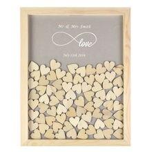 Индивидуальная деревянная подвесная рама, свадебная книга для гостей, любовь навсегда, рустикальная альтернатива, уникальный 60 или 130 шт., декор для сердец